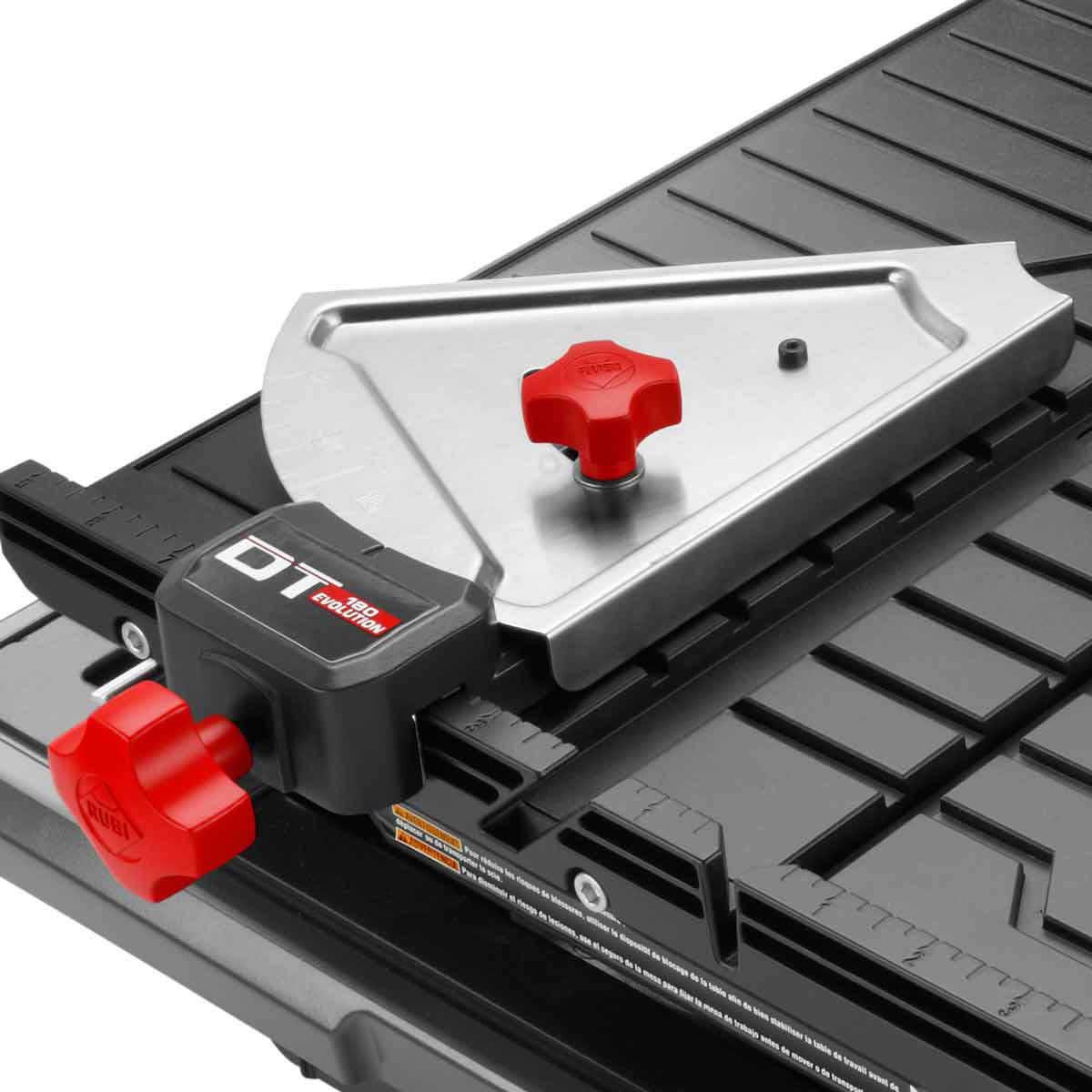 Rubi tile saw adjustable rip and angle guide