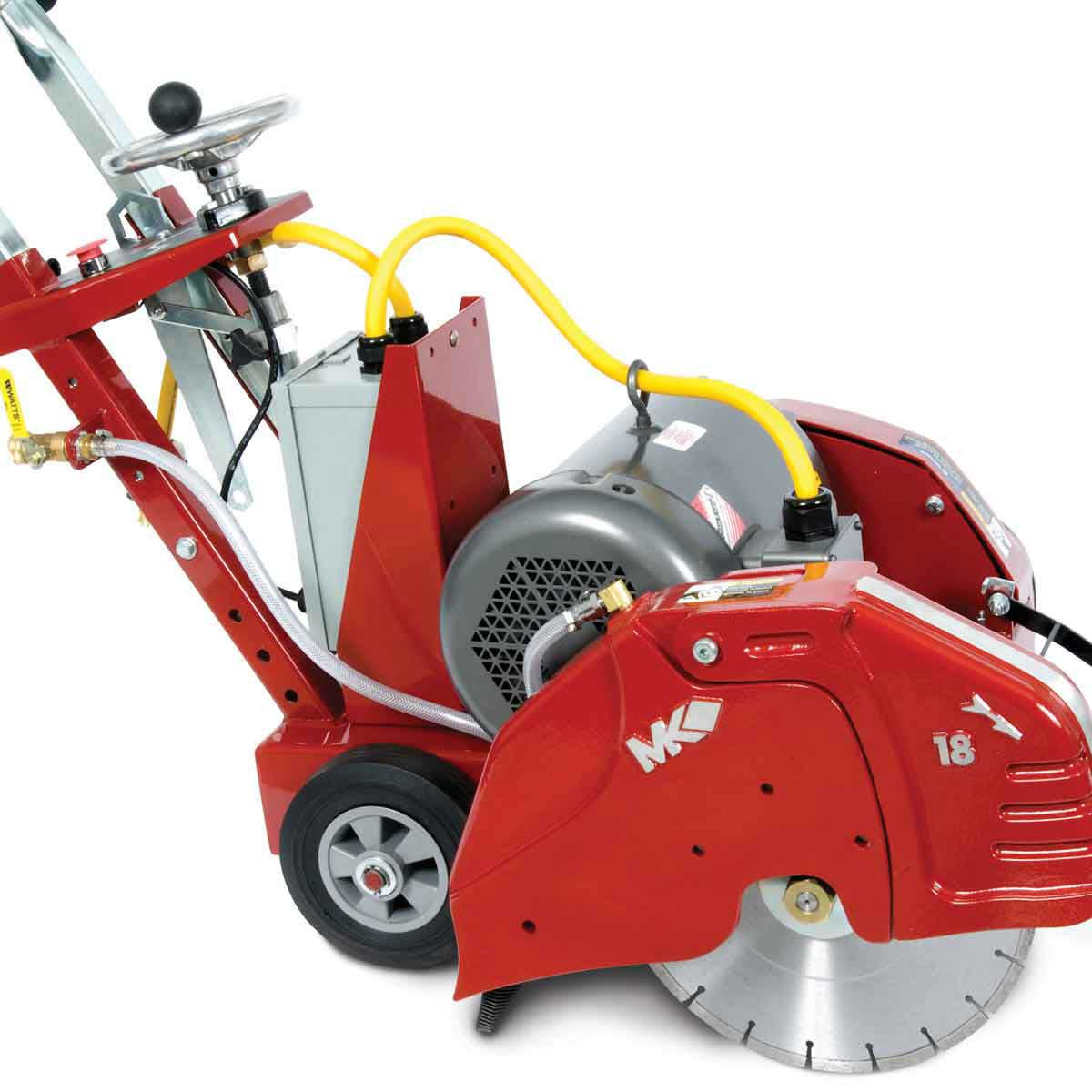 Mk 1600 Electric Walk Behind Concrete Saw Contractors Direct