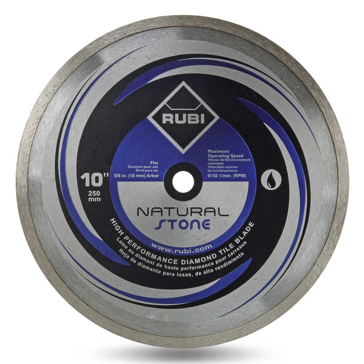 rubi 10in natural stone diamond blade