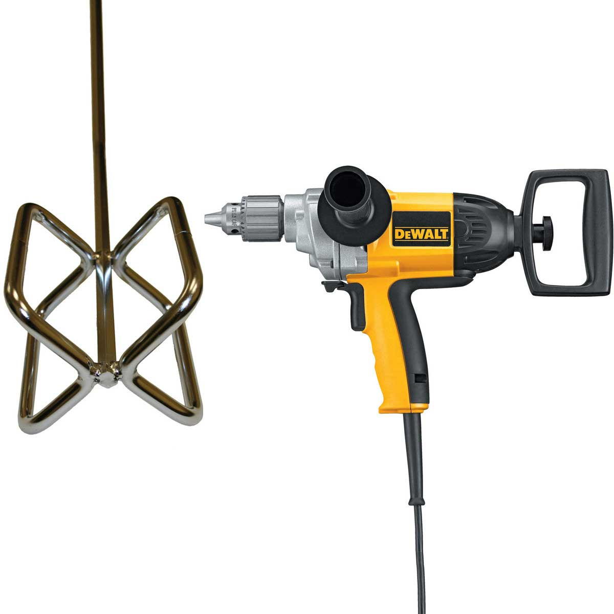 DW130V Dewalt 1/2 in. Mortar Mixing Drill With DTA mud beater Mixing Paddle