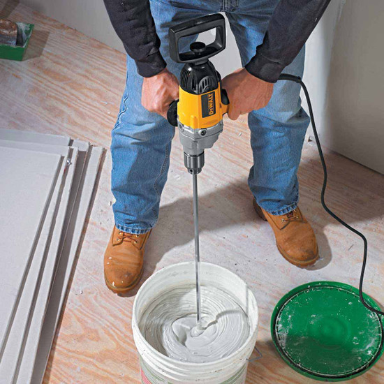DW130V Dewalt Mixing Drill joint compound bucket no air bubble with mud beater mixer