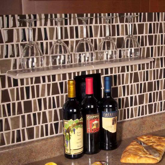 Wine Glass Tile Shelf