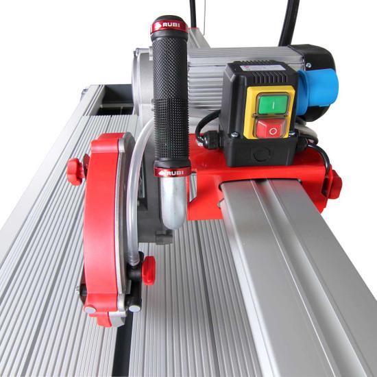 Rubi rail saw cutting head assembly