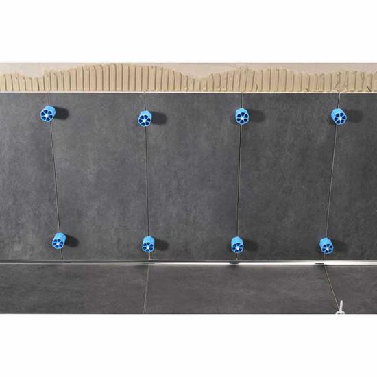 Prodeso large format ceramic tile installation, Linear Leveler Proleveling System