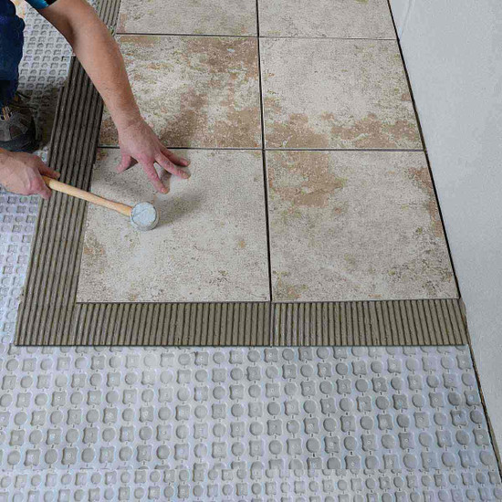 Laticrete strata_mat tile installation