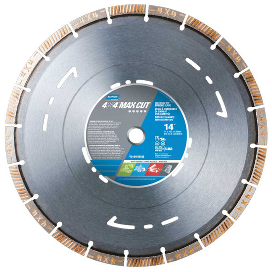 Norton Clipper 4x4 Max Cut High Speed Diamond Blade