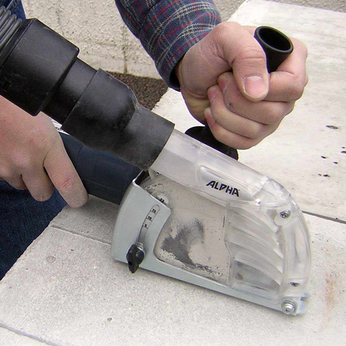 osha standard dustless attachment for grinder