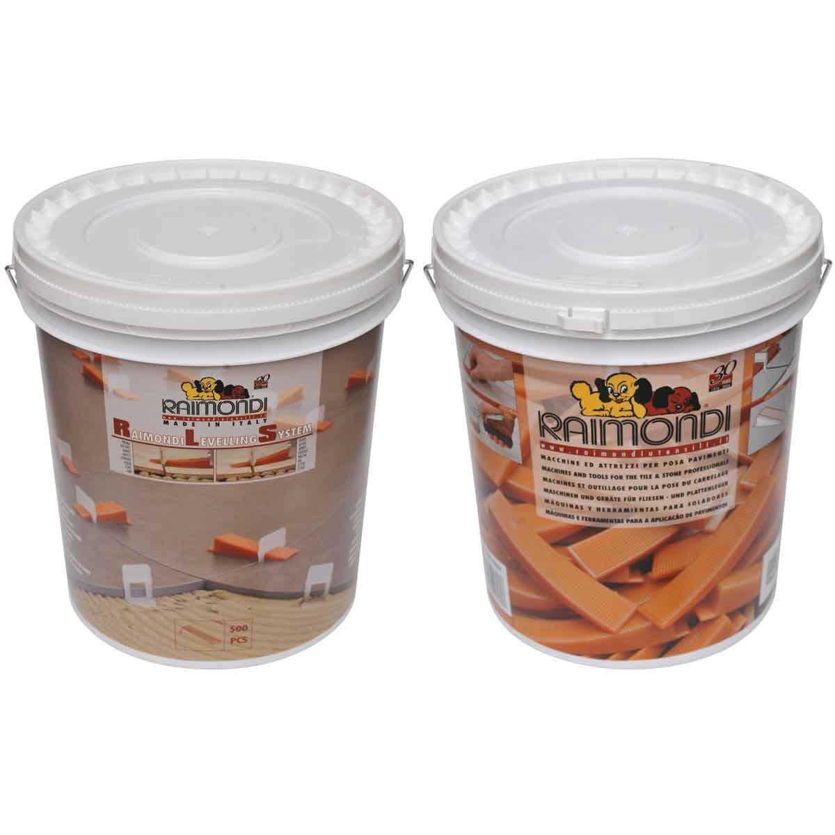 raimondi tile leveling system 500 piece bucket