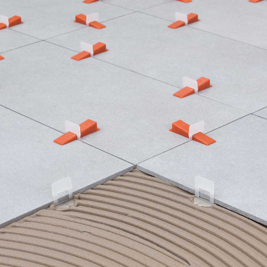 raimondi RLS floor leveling wedges and clips stone tile