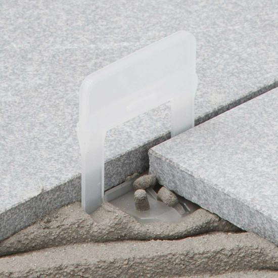 raimondi 1/16in large white clip tile installation