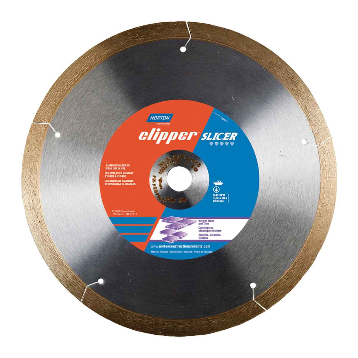 norton clipper slicer diamond blade