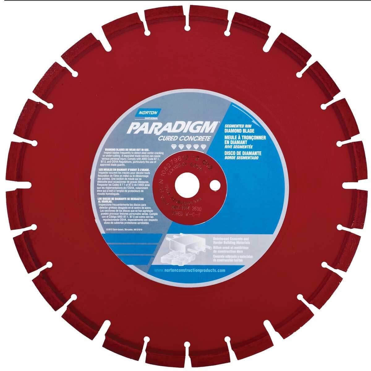 Norton Clipper Paradigm Concrete Diamond Blade