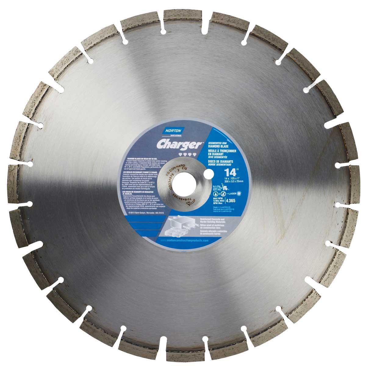 Norton Clipper Charger Hard Aggregate Concrete Diamond Blade