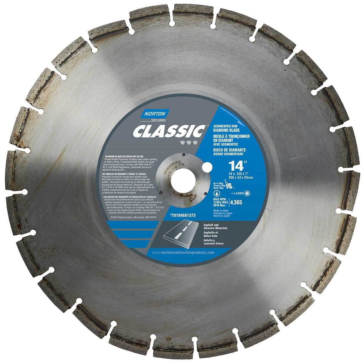 Norton Clipper Classic Green Concrete & Asphalt Diamond Blade