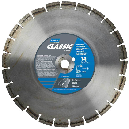 Norton Clipper Classic Green Concrete and Asphalt Diamond Blade