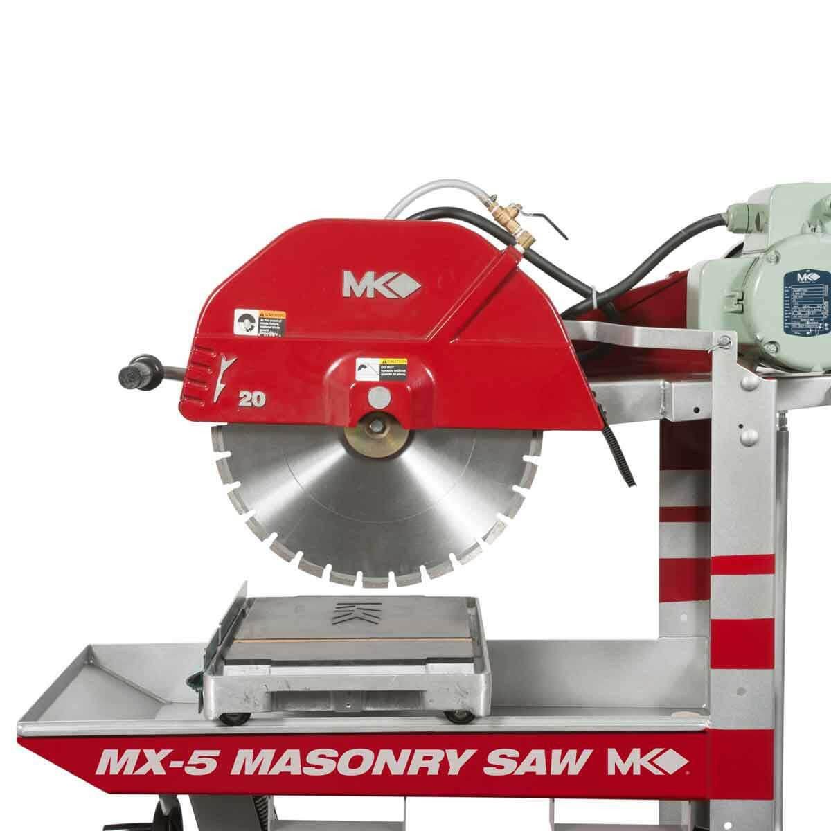 mk diamond mx-5 230v masonry saw with 20in blade guard