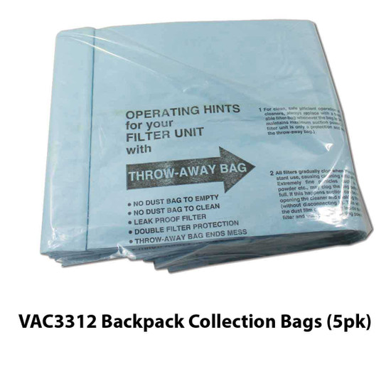 VAC3312 Backpack Collection Bags