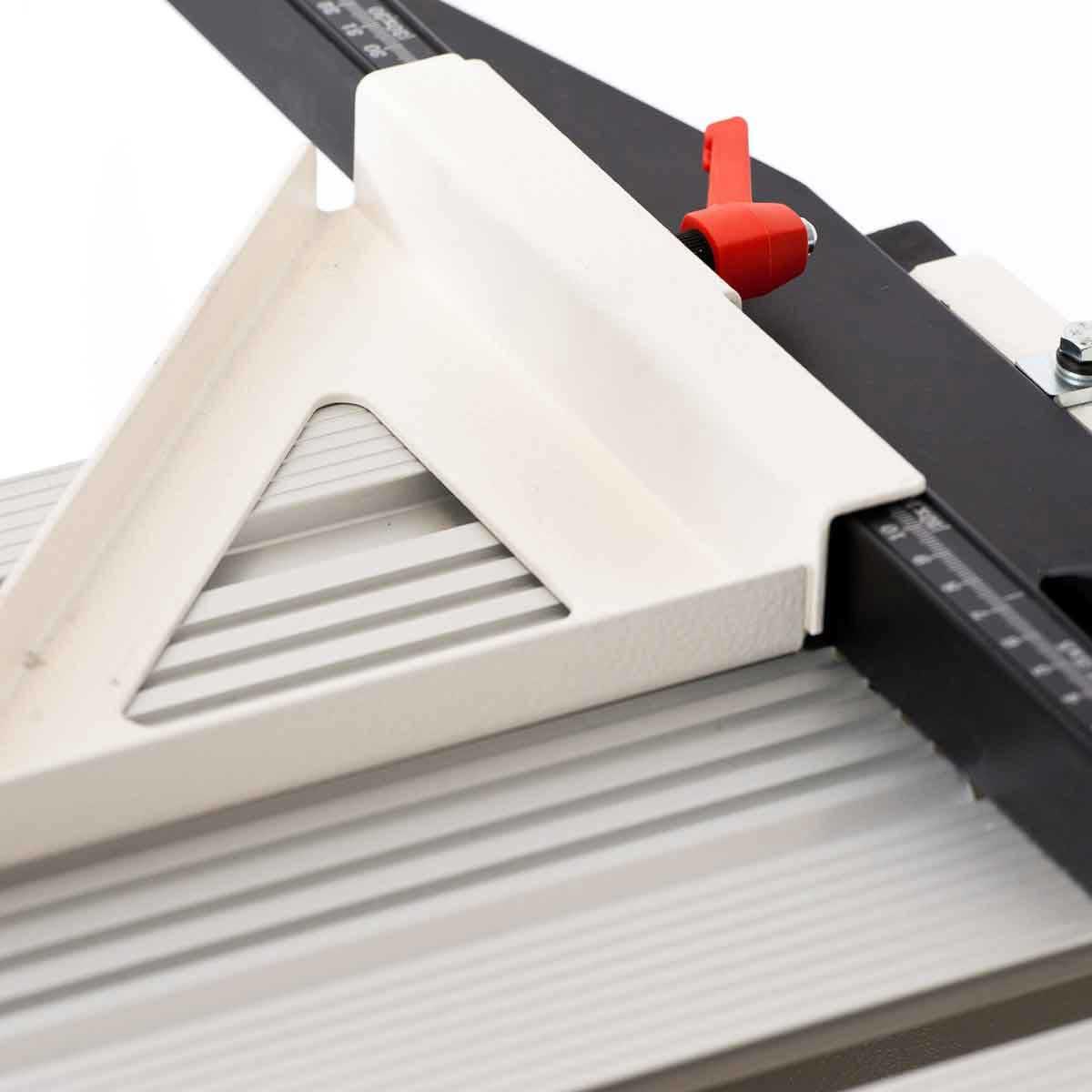 Raimondi adjustable 45 degree angle guide on rail saw