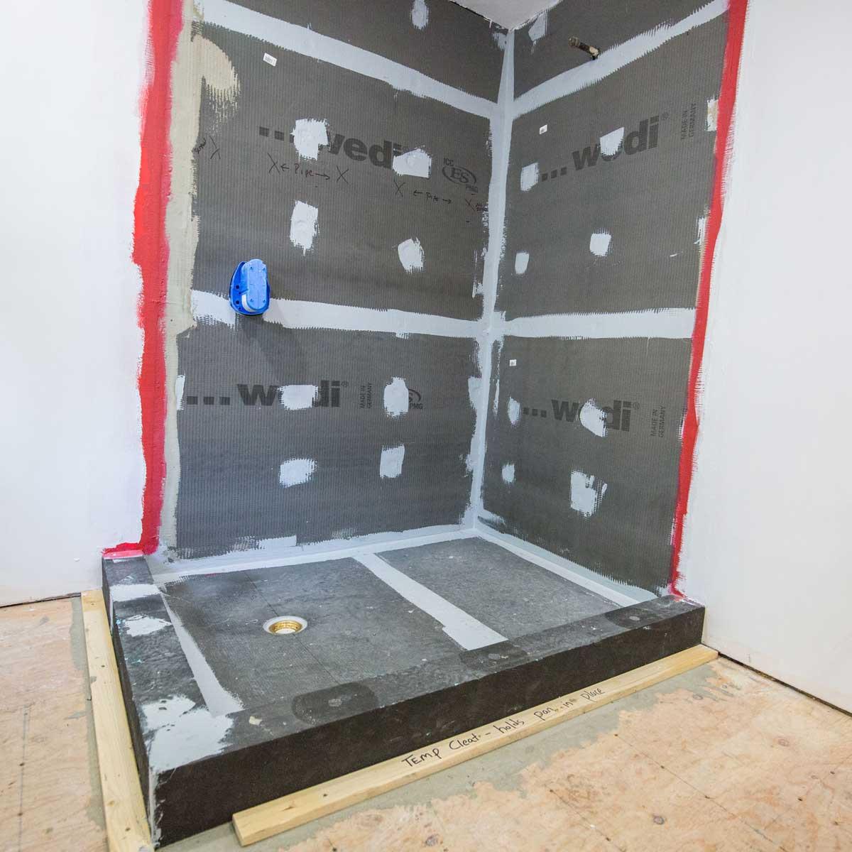 36 x 60inch Offset Drain Wedi Ecobath OneStep Shower Base