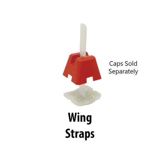 Tuscan Leveling System Wing Straps for Un-Gauged Tiles Supplied by Pearl Abrasive