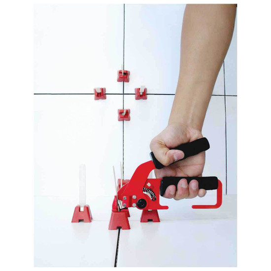 Tuscan Leveling System plier strap and Caps lippage removal
