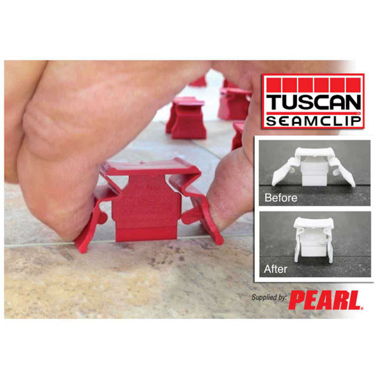 tuscan leveling seam clip red installation