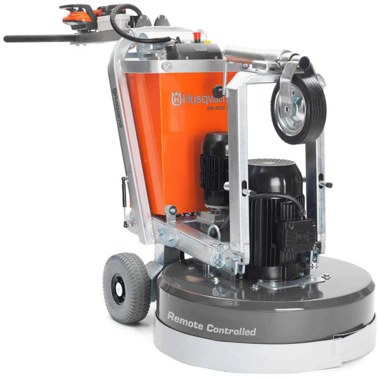 PG 820 Concrete and Surface Grinder with Guide Wheel Folded Up 967302902