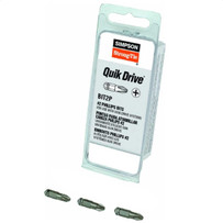 Quik Drive Screwdriver #2 Phillips Bit, 3 Pack
