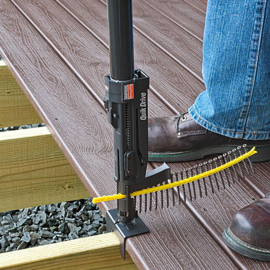 Installing Outdoor Decking with Quik Drive Attachment