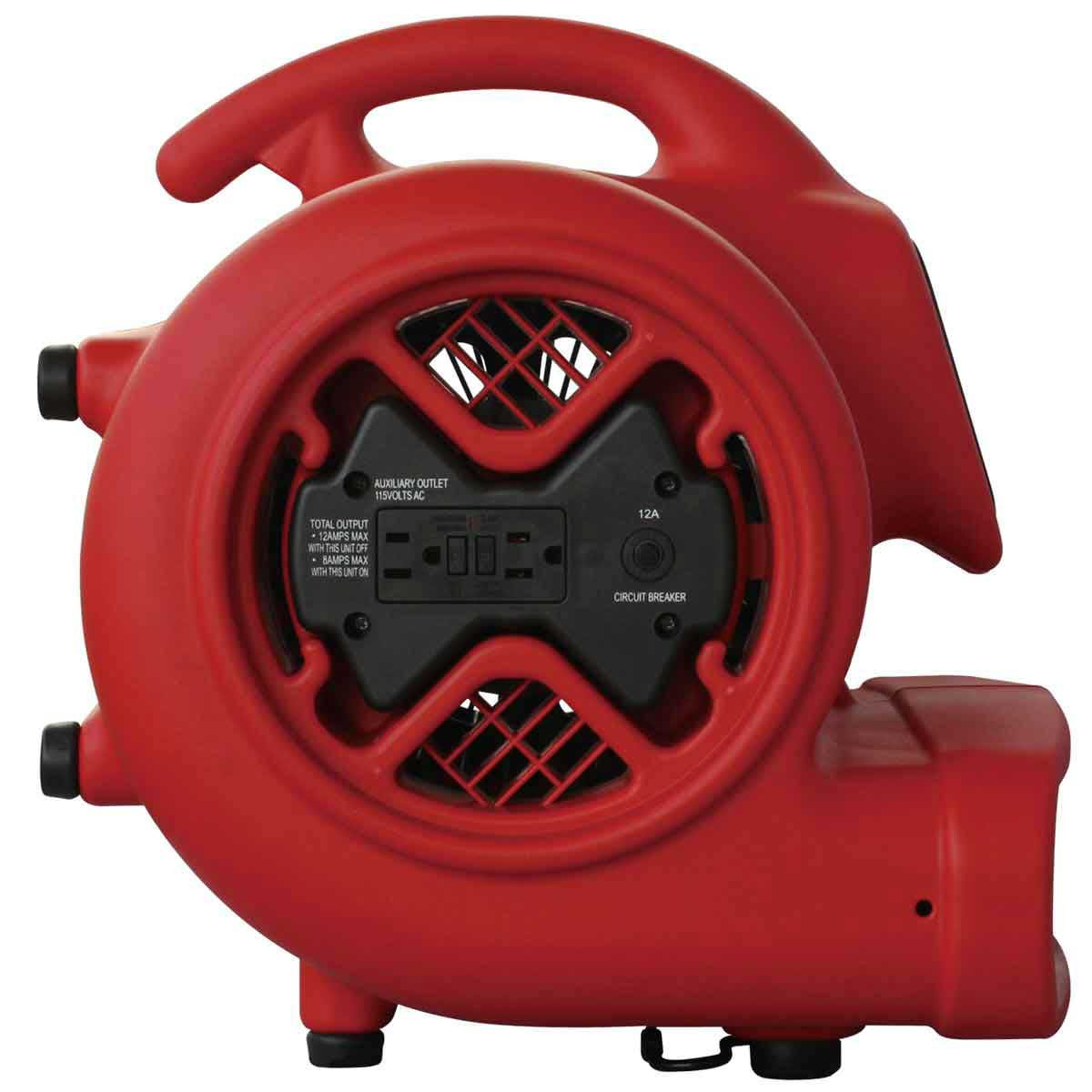 Hawk Air Mover ventilator tilted