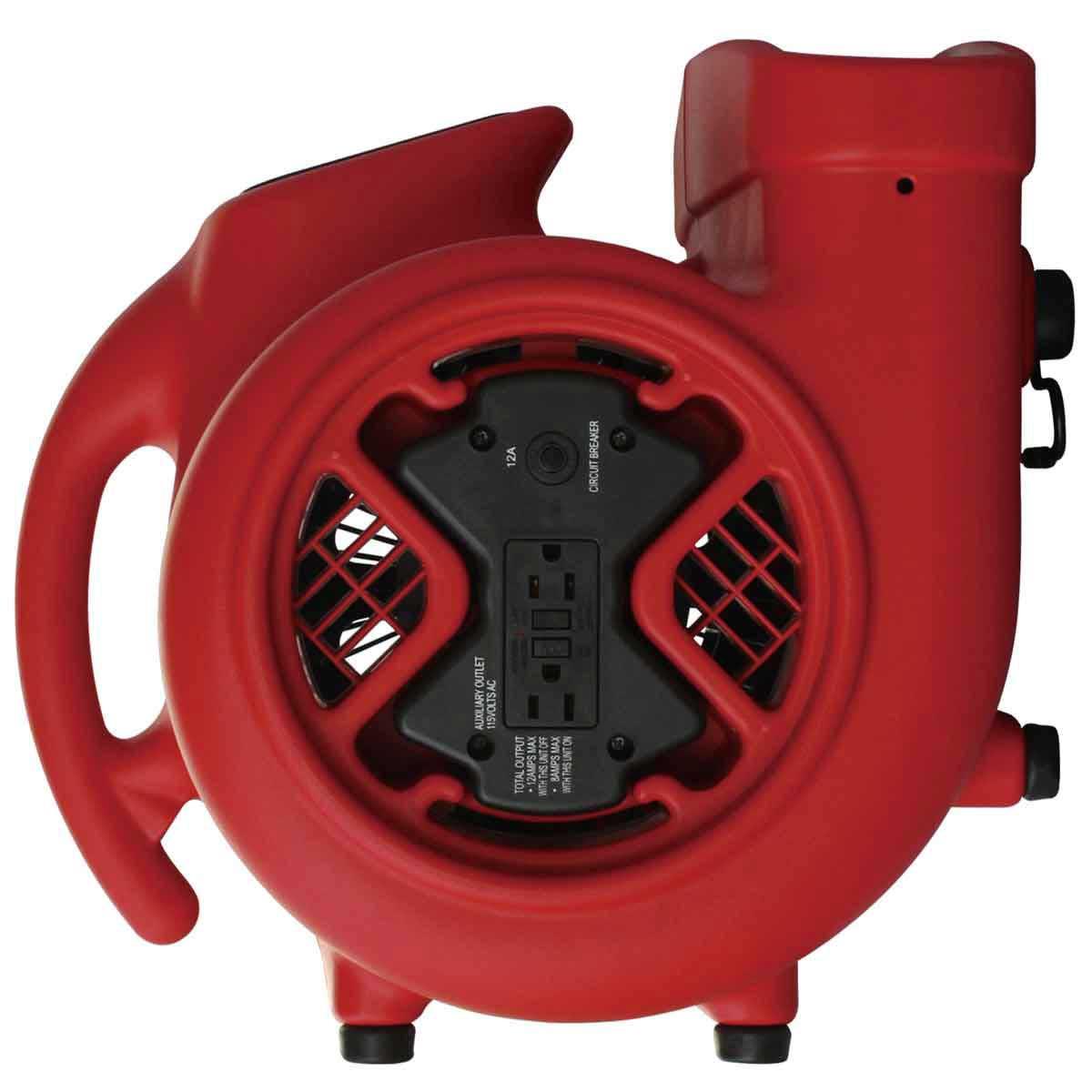 Hawk Air Mover ventilator back