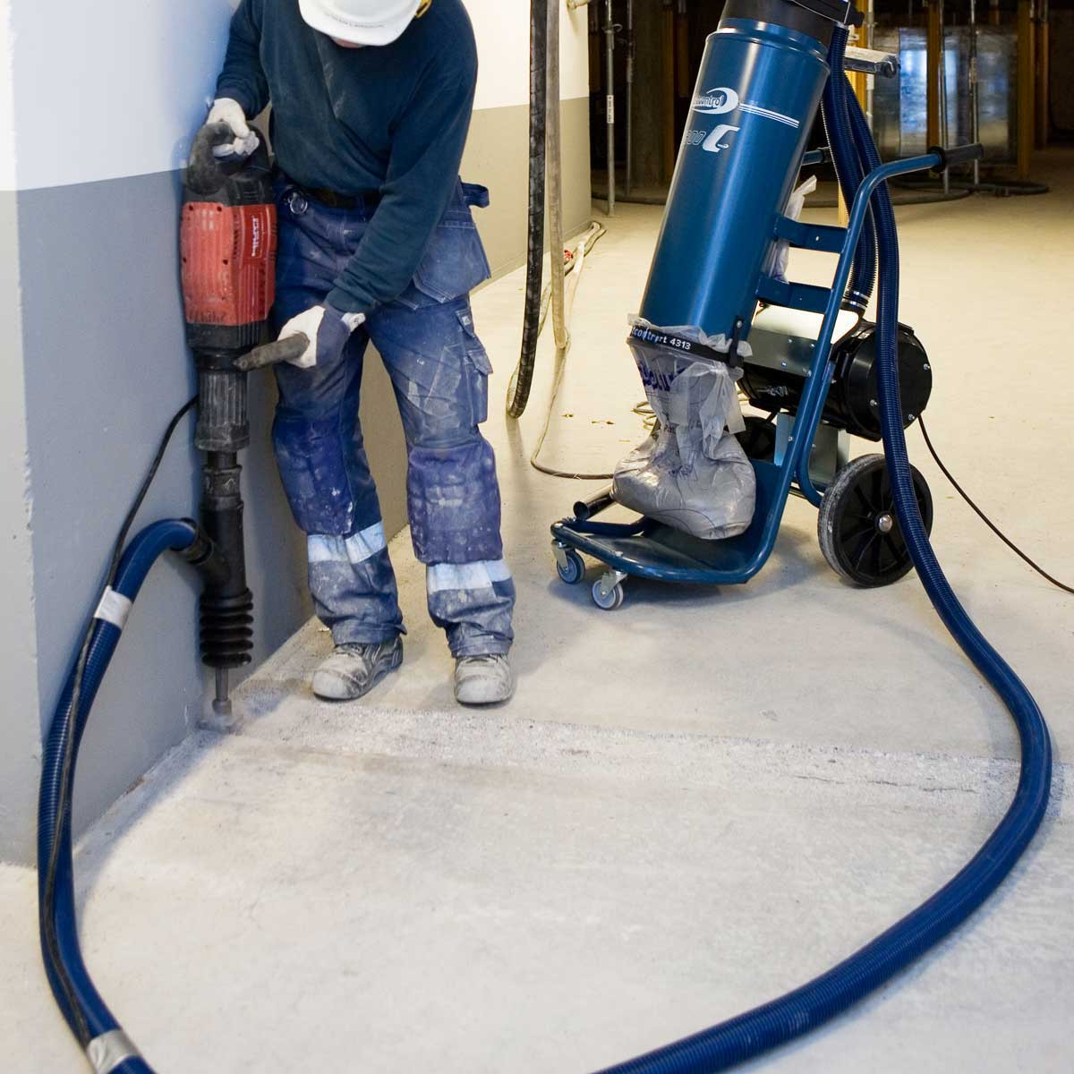 DustControl hammer drill vaccum