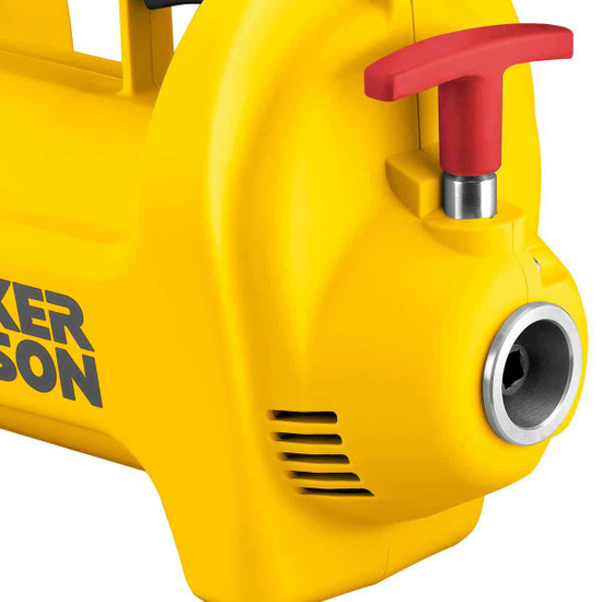 wacker m2500 quick disconnect coupling on motor facilitates shaft exchange. No troublesome threading or stripping. Quick release brush covers simplifies brush