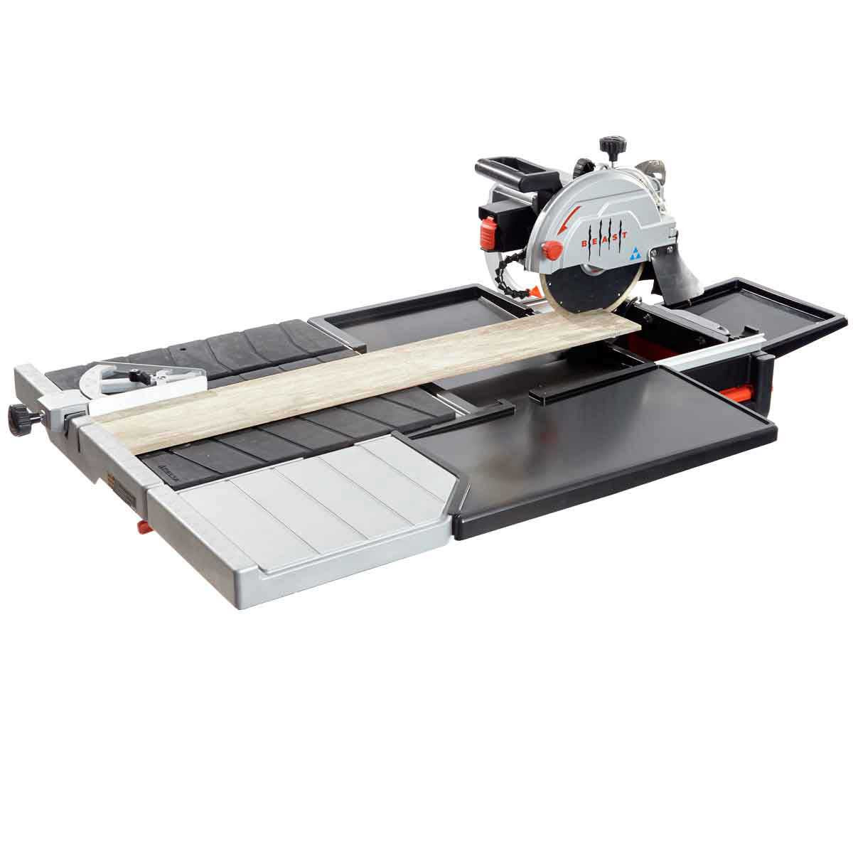 Lackmond Beast10 tile saw with side extension table and pan