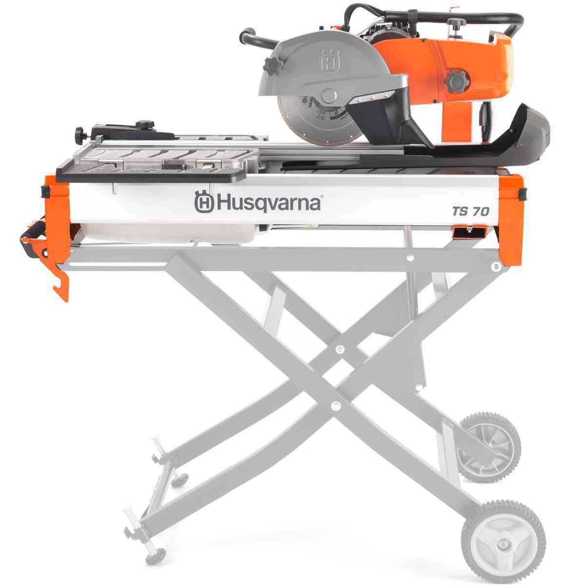 Husqvarna TS70 Tile Saw with optional rolling stand