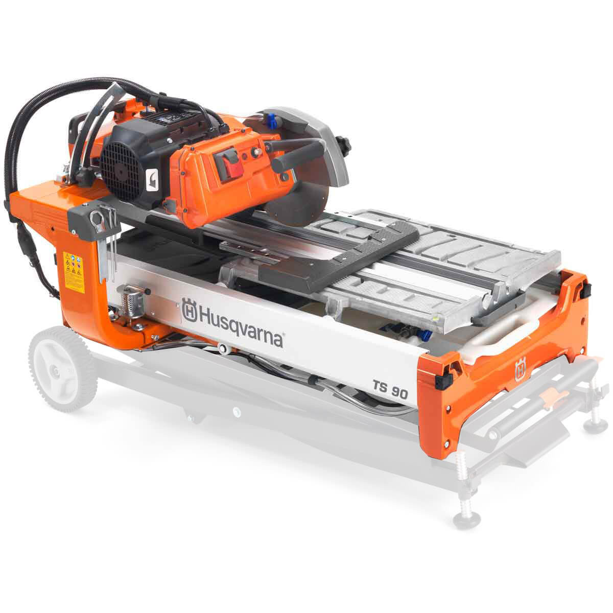 Husqvarna TS 90 Wet Tile Saw with collapsible stand