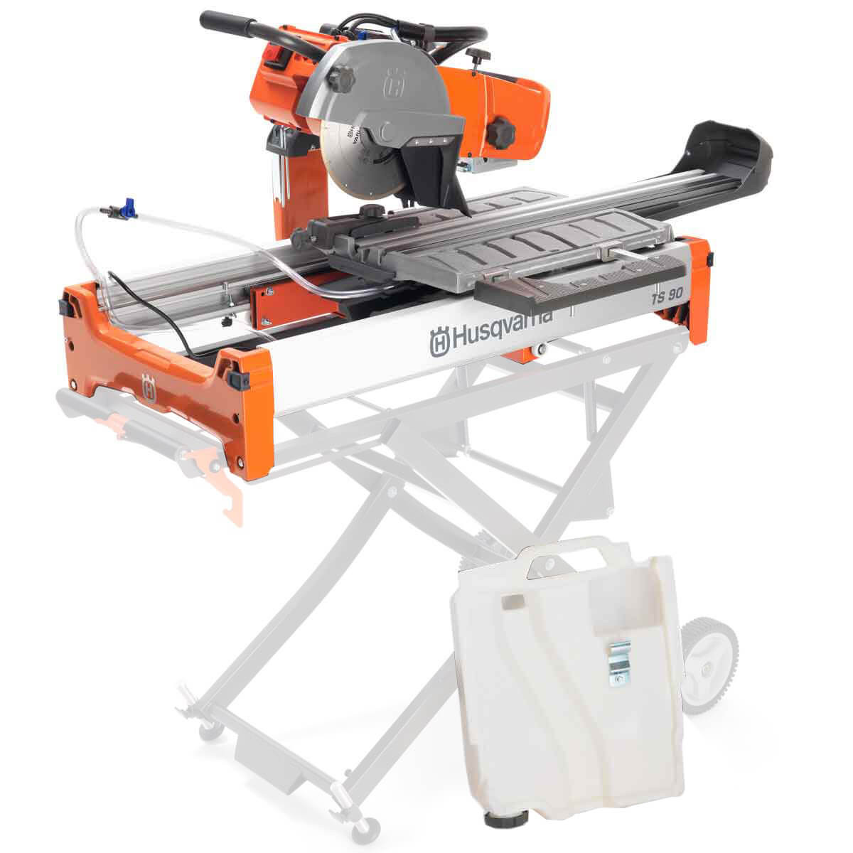 Husqvarna TS 90 Wet Tile Saw with wet cutting kit