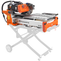 Husqvarna TS90 Dual Voltage Tile Saw features a belt driven blade shaft for a smother cut and more torque