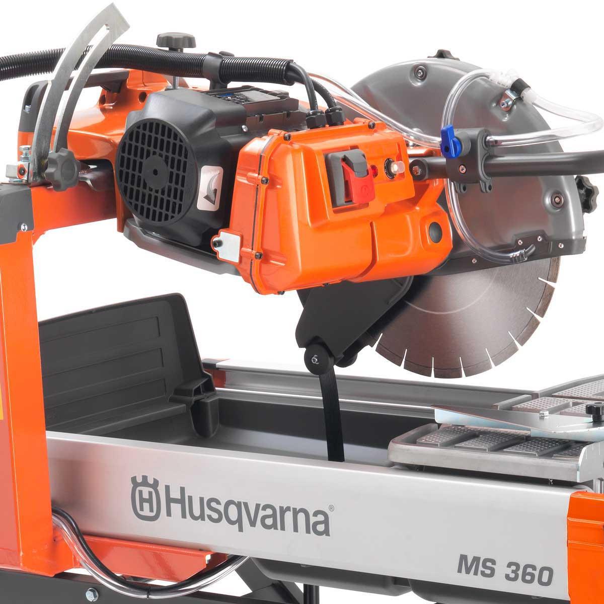 husqvarna ms 360 14in masonry saw motor and dual water feed
