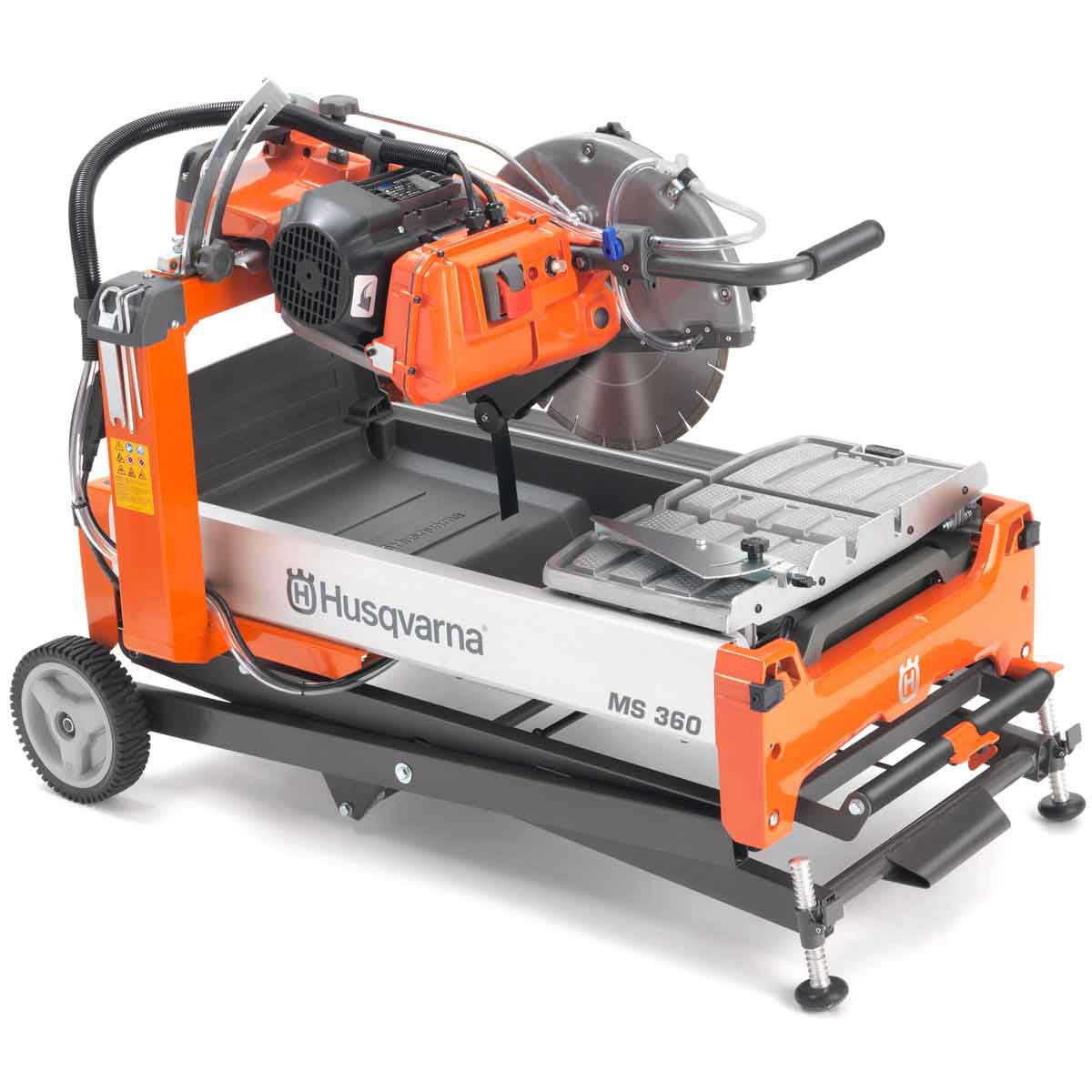husqvarna ms 360 14in masonry saw with folding stand sold separately