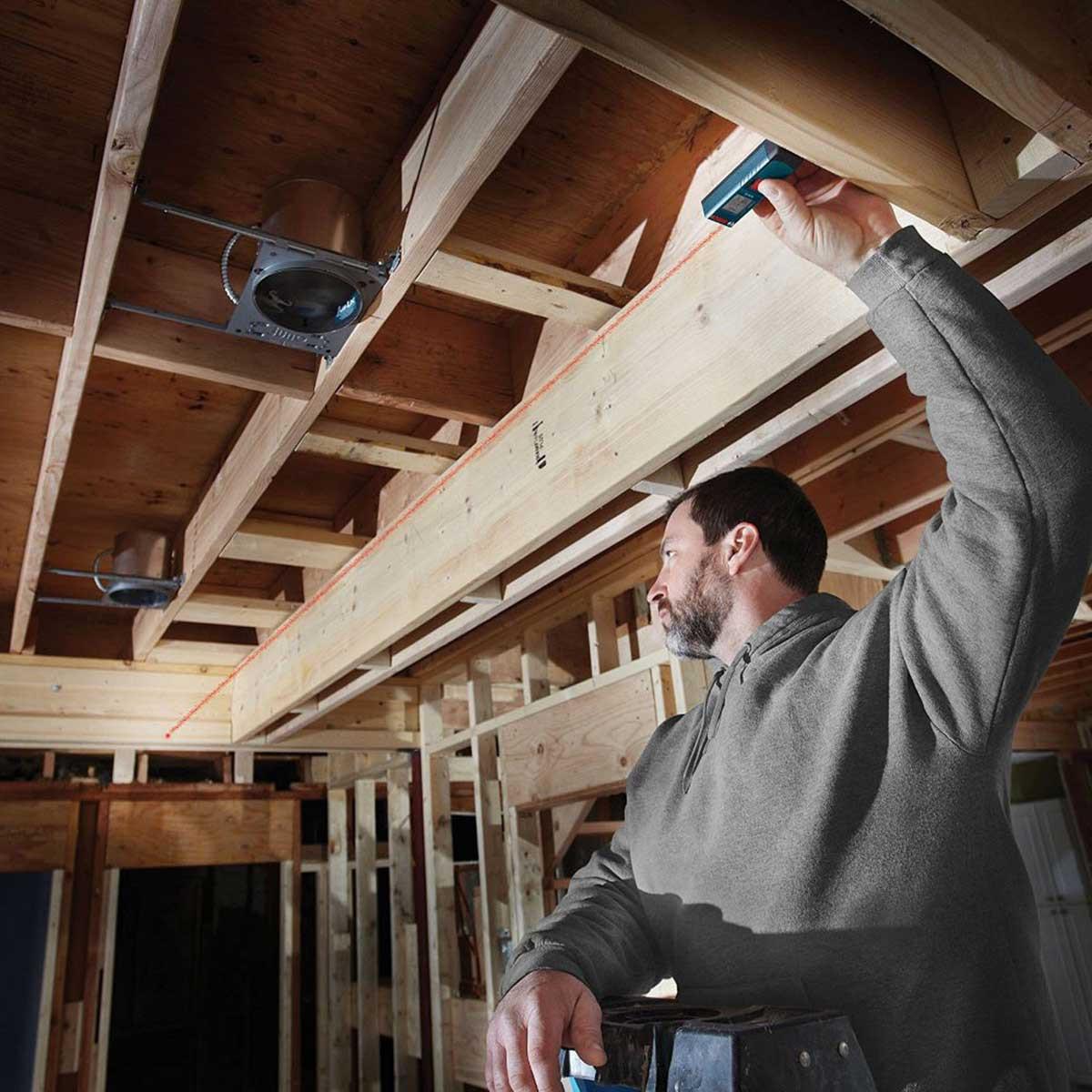 ceiling measuring Bosch laser tool