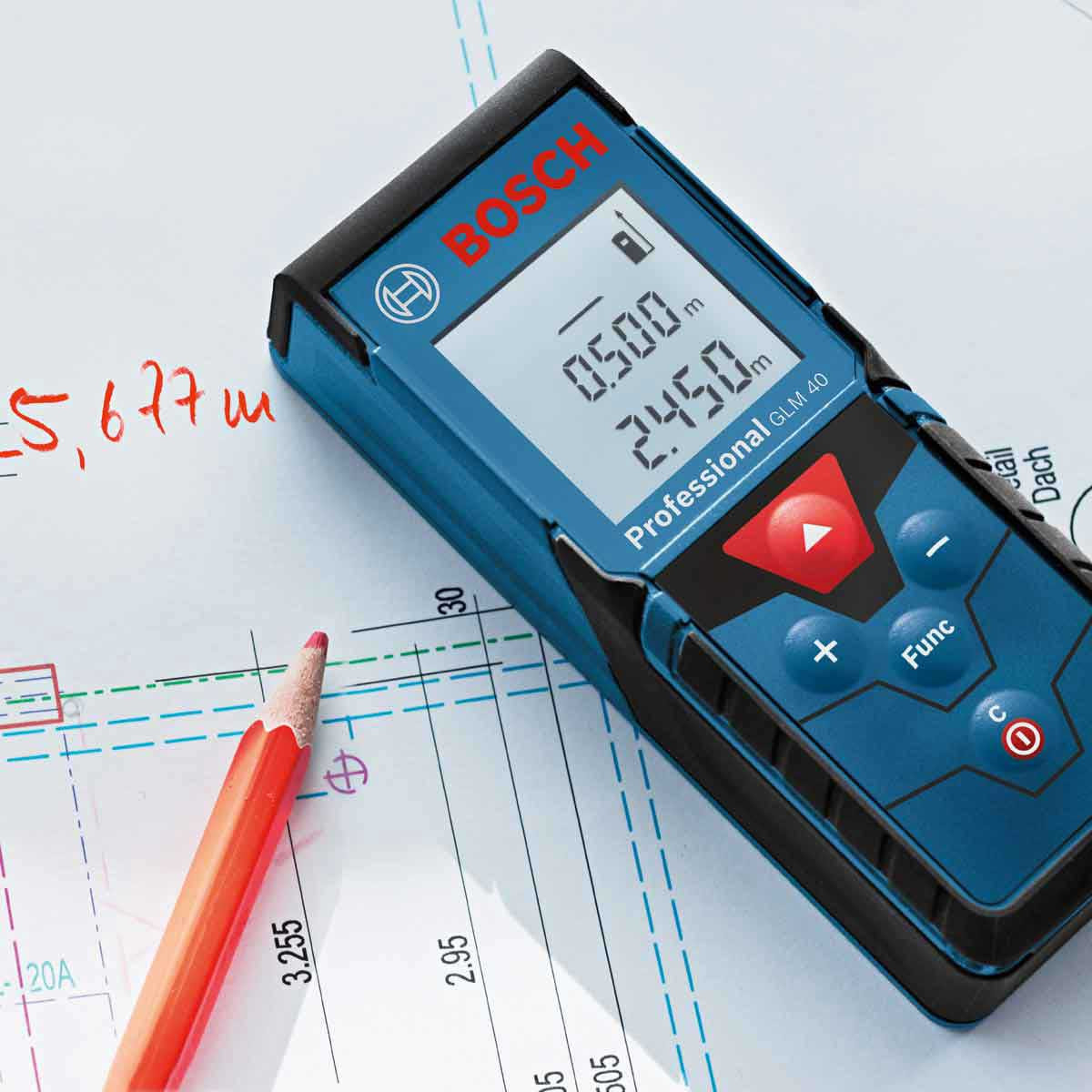 GLM40 Bosch 140 ft. Compact Laser Measure