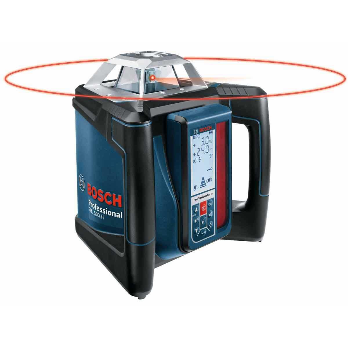 360 degree GRL 500 Bosch Self-Leveling Rotary Laser Kit