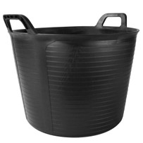 88773 Rubi FLEXTUB 10.5 Gallon Black Plastic Tub For mixing large quantity of thinset and other setting materials, Flexible plastic