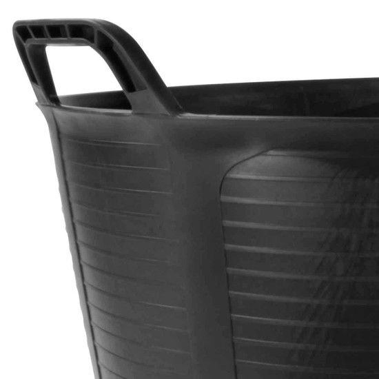 88773 Rubi FLEXTUB black Plastic Tub Reinforced handles, Greater resistance and comfort during transport for easy waste collection