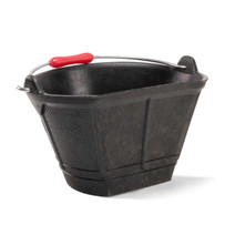 88940 Rubi Rubber Mixing Bucket Flat side for easy waste collection and allow to hang flush against a wall, Plastic handle grip for greater comfort