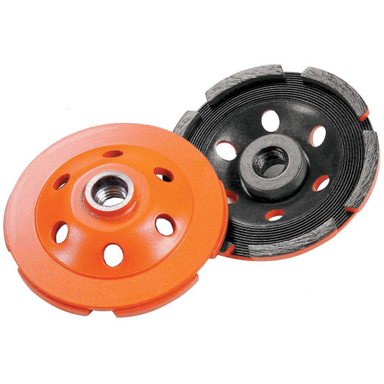 Diamond Products Single Row Heavy Duty Orange Cup Wheels