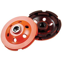 Diamond Products Heavy Duty Double Row Orange Cup Wheels