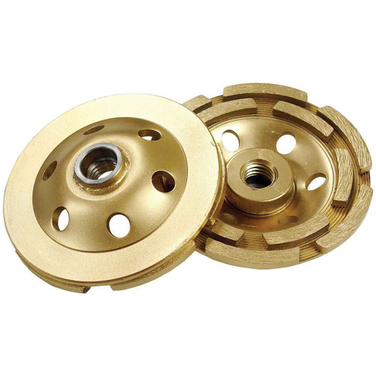 Diamond Products Double Row Gold Standard Cup Wheels