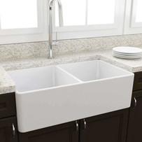 Artisan Double Bowl Fireclay Sink